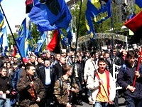Украинским националистам запретили митинговать в день приезда Медведева в Киев