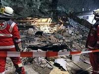 На юге Германии кусок скалы раздавил жилой дом