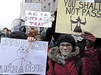 В Польше прошли массовые митинги против цензуры в интернете
