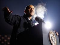 Обама одержал победу на первых открывшихся участках