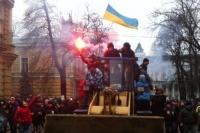 Демонстранты пошли на штурм администрации президента Украины