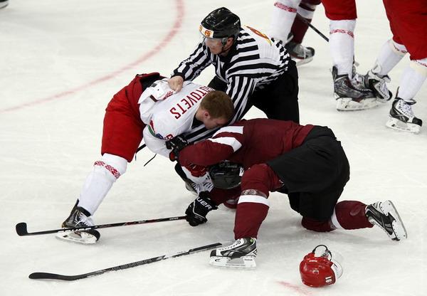 Сборная Беларуси выиграла у команды Латвии 3:1