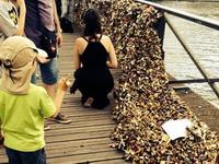 Ограждение на парижском мосту Искусств рухнуло под тяжестью «замков любви»