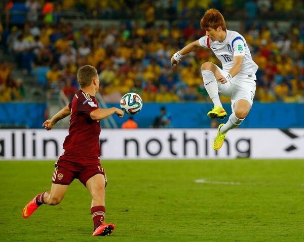 Россия - Южная Корея 1:1 на ЧМ-2014 по футболу