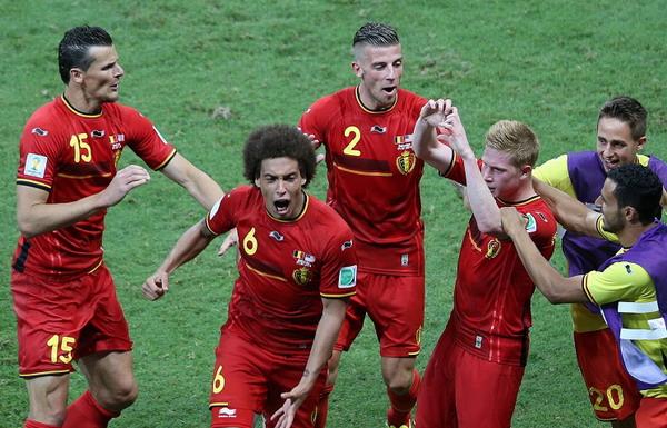 В матче 1/8 финала бельгийцы победили сборную США со счетом 2:1