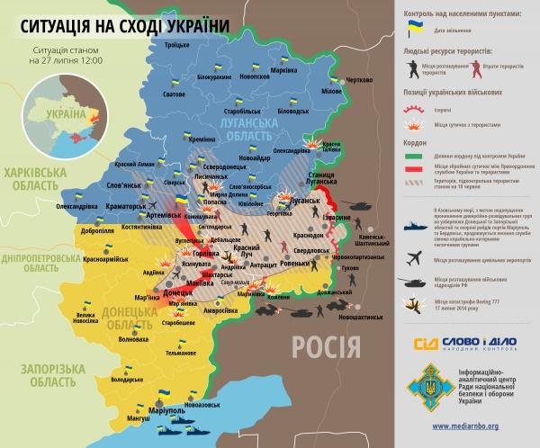 Украинские войска отсекают донецкую группировку боевиков