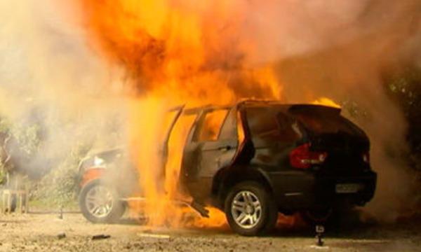 Немец взорвал китайский клон BMW X5