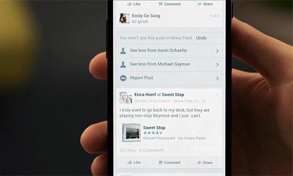 Facebook сделала новые настройки ленты новостей