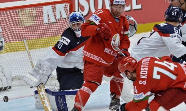 Белорусские хоккеисты уступили словакам на ЧМ-2015