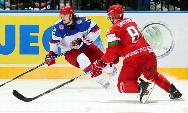 Беларусь - Россия 0:7 на ЧМ-2015 по хоккею