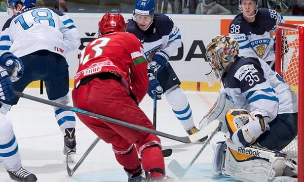 Сборная Беларуси проиграла Финляндии по буллитам на ЧМ-2015 по хоккею