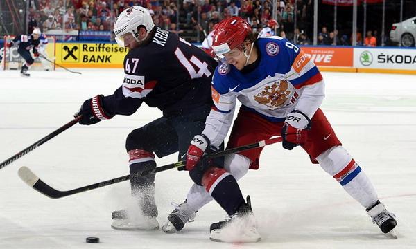 Россия победила США 4:0 и вышла в финал ЧМ-2015 по хоккею.