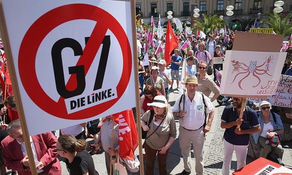 В Мюнхене прошёл митинг против саммита G7