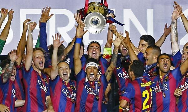 «Барселона» выиграла Лигу чемпионов