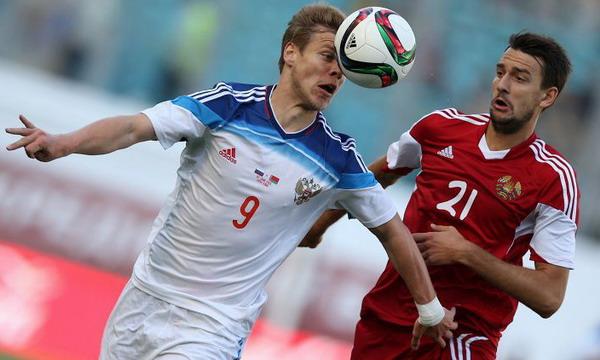 Сборная Беларуси проиграла футболистам России в товарищеском матче