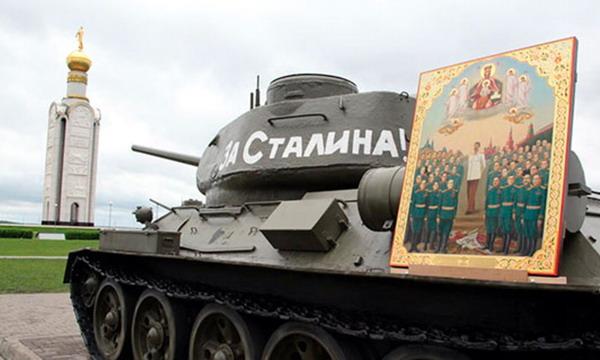 Российский писатель предложил причислить Сталина к лику святых