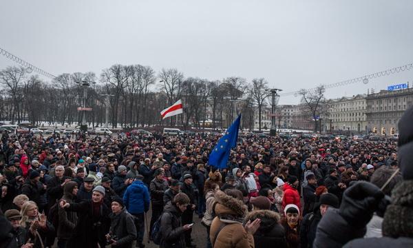 В Минске прошел массовый «Марш рассерженных белорусов»