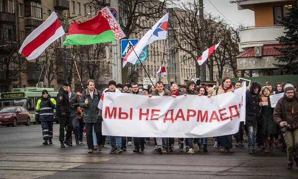 15 марта прошли «Марши нетунеядцев» в Минске, Гродно и Могилёве
