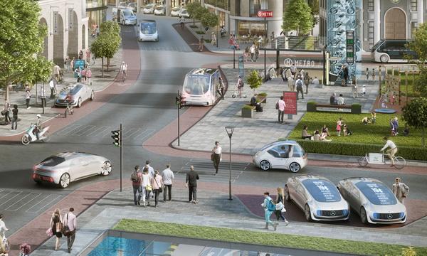 Автономное вождение в городах от Bosch и Daimler