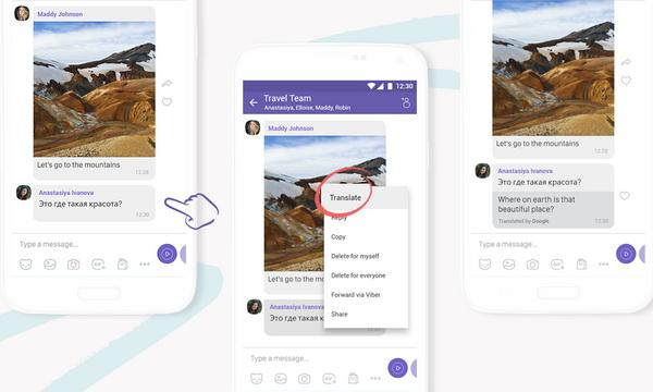Viber добавил функцию мгновенного перевода сообщений
